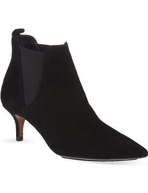WHISTLES Oregan suede kitten heel boots