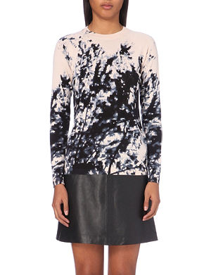 WHISTLES Tree-motif knitted jumper