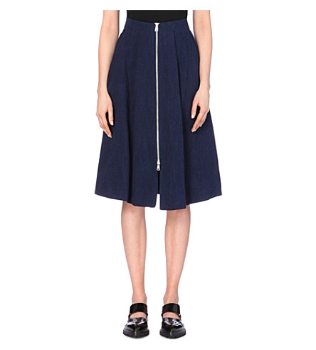 WHISTLES - Denim zip-through skirt | Selfridges.com