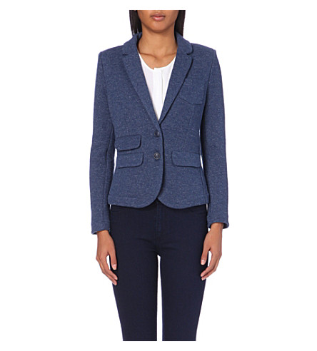 WHISTLES Marl knitted blazer (Navy