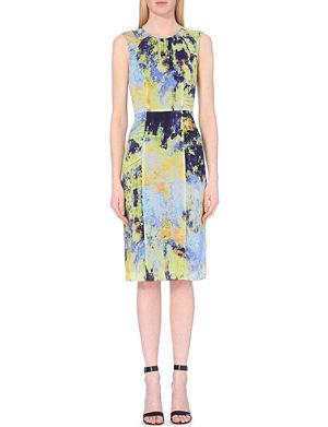 WHISTLES Eva bodega-print dress