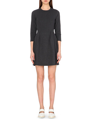 WHISTLES Brie jersey-twill dress