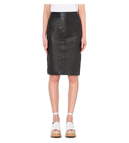 ... WHISTLES Kel leather pencil skirt (Black. PreviousNext