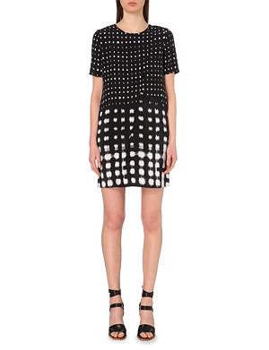 WHISTLES Shibori spot-print dress