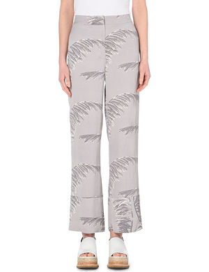 WHISTLES Valparaiso wide-legged linen trousers