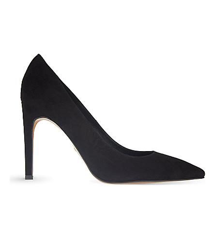 WHISTLES Cornel suede courts (Black