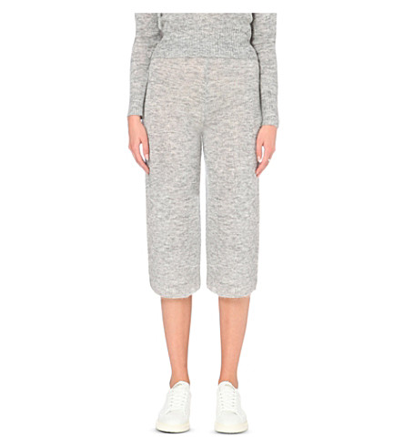 WHISTLES Wide-leg knitted culottes (Grey