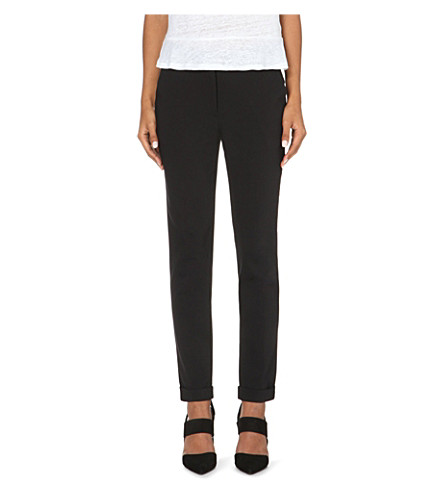 WHISTLES Sadie slim-fit tapered trousers (Black