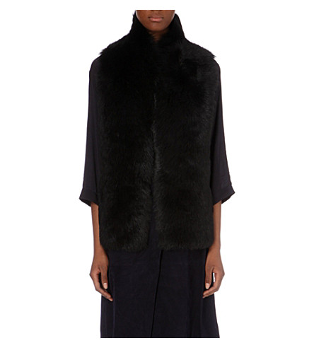 WHISTLES Reversible sheepskin vest (Black