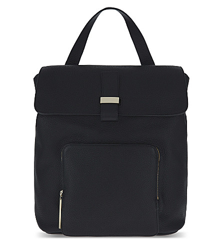 WHISTLES Portland leather backpack (Black