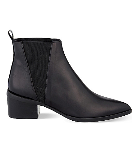 WHISTLES Belmont pointed toe leather Chelsea boots (Black
