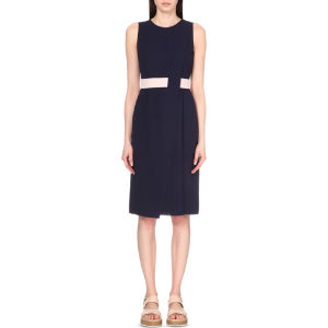 Contrast panel woven dress