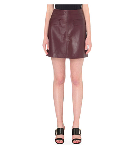 WHISTLES - Rita leather skirt | Selfridges.com