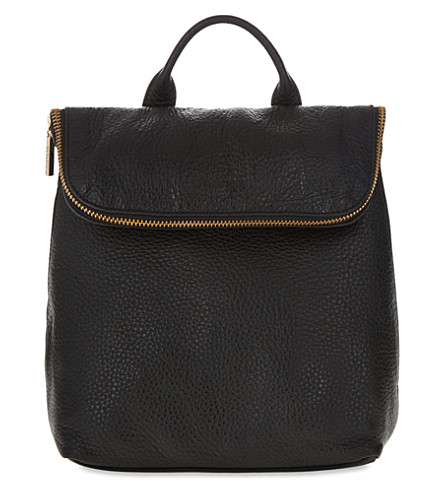 WHISTLES Mini Verity leather backpack (Black