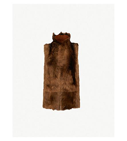 WHISTLES Reversible sheepskin vest (Brown