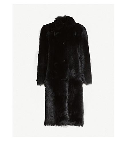 WHISTLES Ekland shearling coat (Black