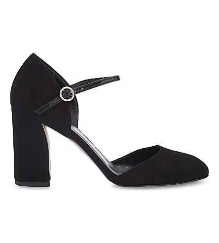 WHISTLES Jackson suede courts (Black