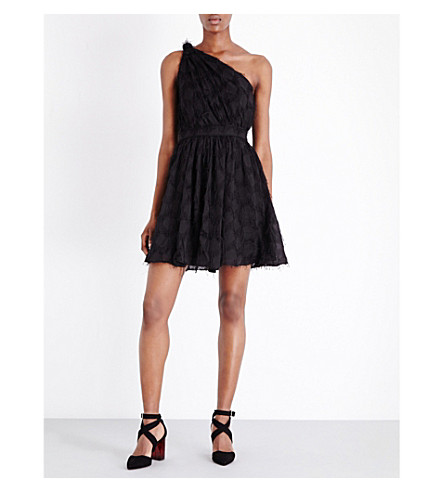 WHISTLES Rosanna fil-coupé dress (Black