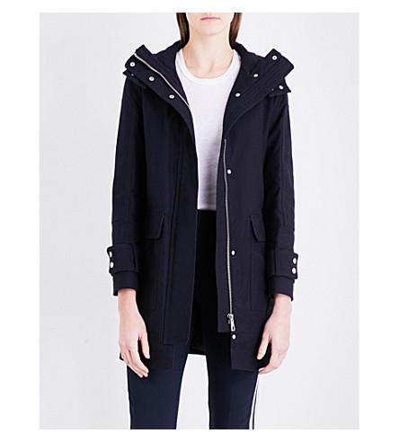 WHISTLES Willow cotton-gabardine coat (Navy