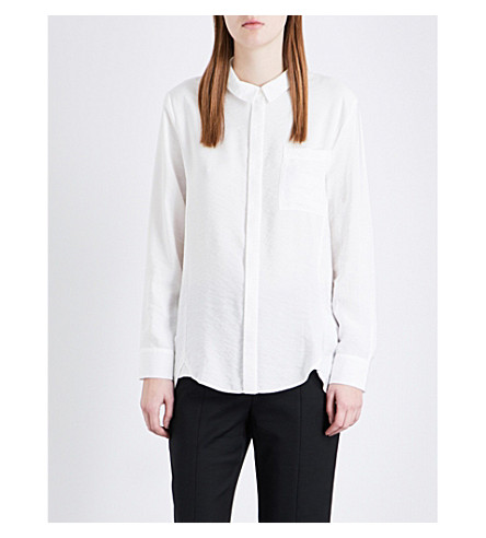 WHISTLES Emilia loose-fit shirt (Cream