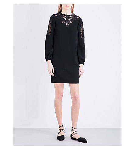 WHISTLES Briar lace cutout dress (Black