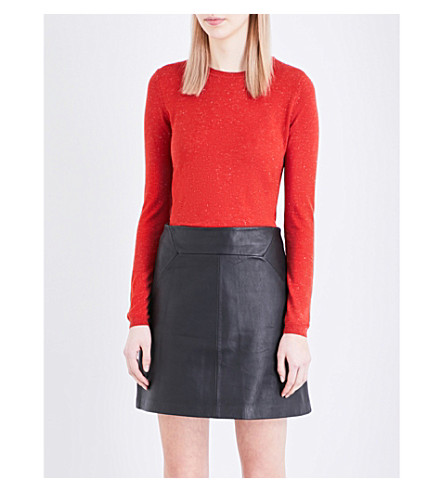 WHISTLES Annie knitted sweater (Dark/burnt+orange