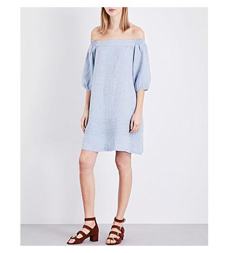 WHISTLES Lila linen dress (Blue