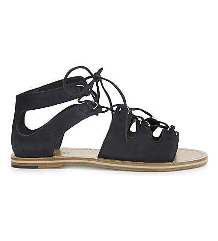 WHISTLES Elba suede sandals (Navy