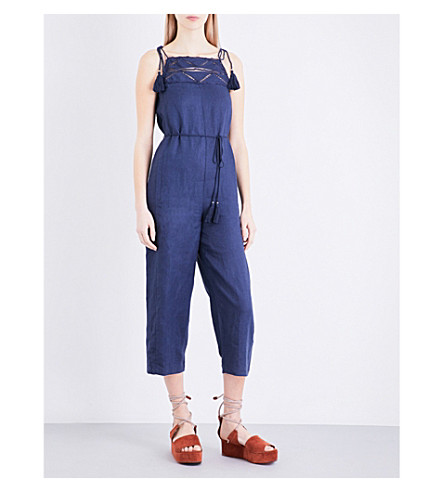 WHISTLES Naomi linen jumpsuit (Navy