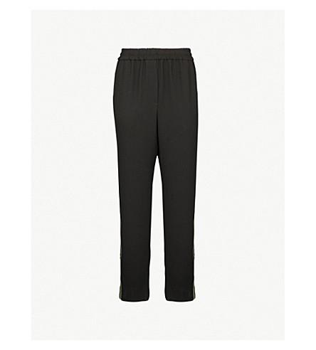 WHISTLES Elyse tapered crepe pants (Black