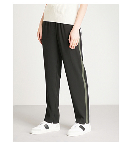WHISTLES Elyse tapered crepe trousers (Black