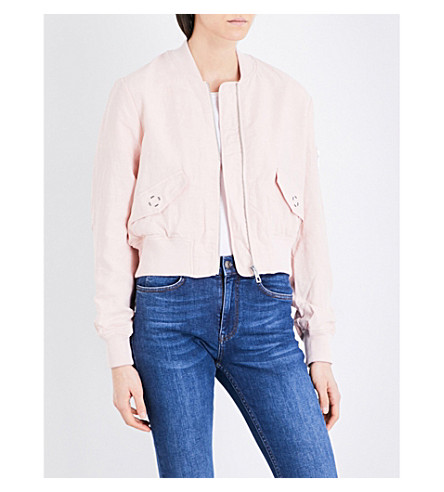 WHISTLES Rudy woven bomber jacket (Nude