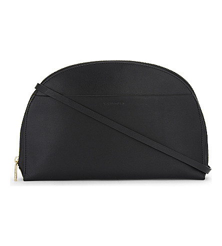 WHISTLES Corso leather cross-body bag (Black