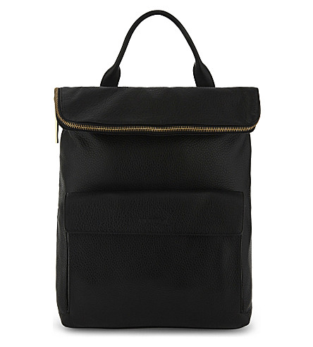 WHISTLES Verity leather backpack (Black