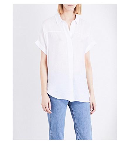 WHISTLES Ellen voile shirt (White