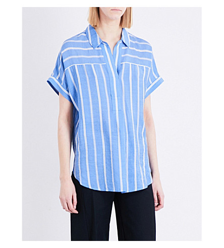 WHISTLES Ellen striped voile shirt (Multi-coloured