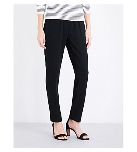 WHISTLES Elyse tapered high-rise crepe pants (Black