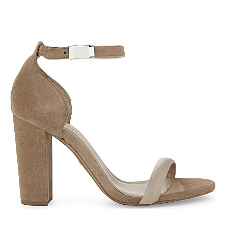 WHISTLES Hyde suede heeled sandals (Nude
