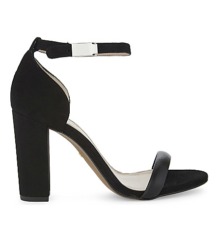 WHISTLES Hyde suede block heel sandal (Black