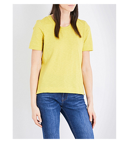 WHISTLES Rosa cotton-jersey T-shirt (Yellow