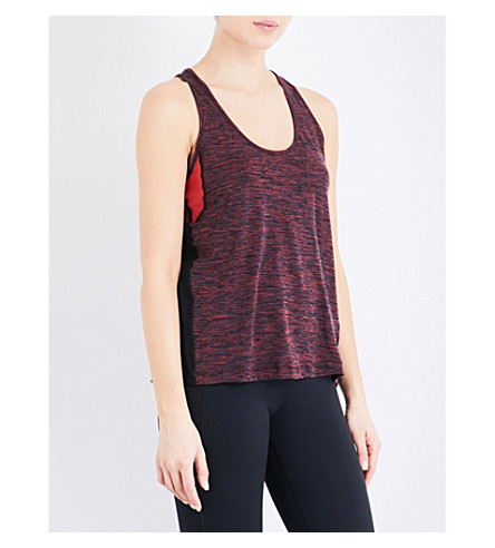 WHISTLES Colourblock longline vest top (Red