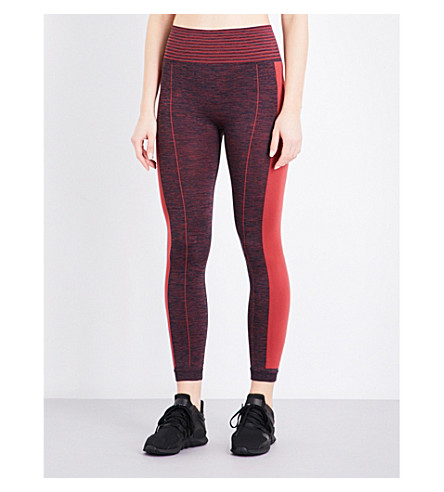 WHISTLES Panel Sports stretch-jersey leggings (Red