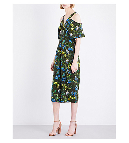 WHISTLES Elsie floral-print silk jumpsuit (Multi-coloured