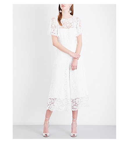 WHISTLES Victoria lace wedding jumpsuit (White