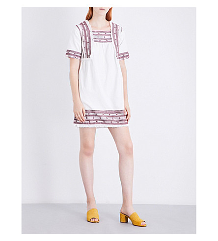 WHISTLES Selina cotton dress (Cream