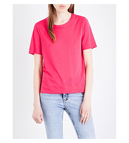 WHISTLES Rosa jersey T-shirt (Plum/claret