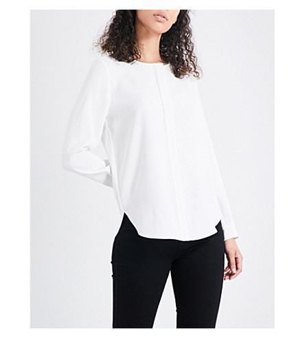 WHISTLES Jerry crepe blouse (Cream