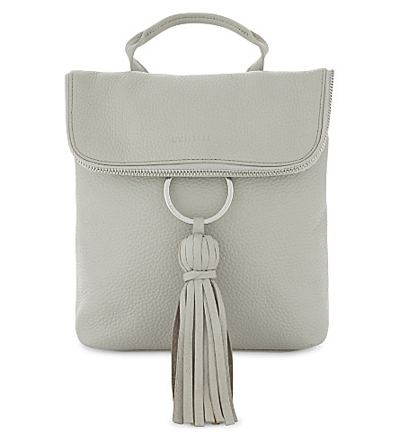 WHISTLES Verity tassel backpack (Grey