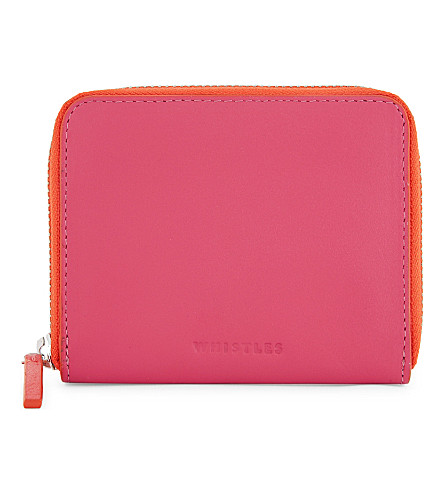 WHISTLES Jaspar contrast zip wallet (Multi-coloured