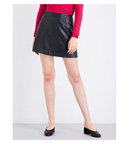 WHISTLES A 线皮革裙子 (黑色